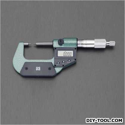 0-25mm/直径3mmマイクロメーター(デジタル/細軸) (EA725EH-42)