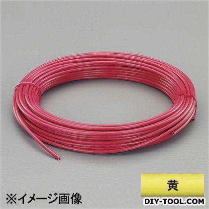 ビニール絶縁電線[KIV] 黄 2.0mm2x100m (EA940AN-205B)