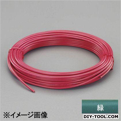 ビニール絶縁電線[KIV] 緑 2.0mm2x100m (EA940AN-206B)