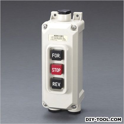 15A/2P単相押しボタン開閉器一般防雨可逆形 68×203×82mm (EA940DF-91)