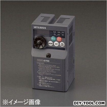 エスコ 200V/0.4kwインバーター(三相モーター制御用) 68×128×142.5mm EA940MX-204