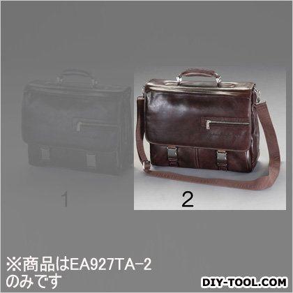 ビジネスバッグ(本革製) ブラウン 400x140x300mm (EA927TA-2)