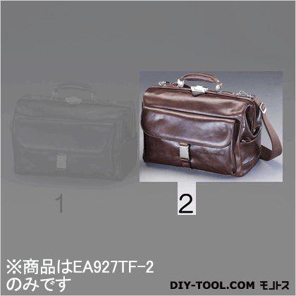 ドクターズバッグ(本革製) ブラウン 400x200x260mm (EA927TF-2)