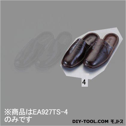 スリッパ(本革製) ブラウン L (EA927TS-4)