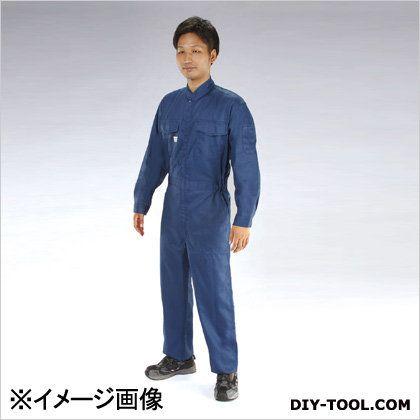継ぎ作業服(帯電防止) ネイビー 3L (EA996AB-34)