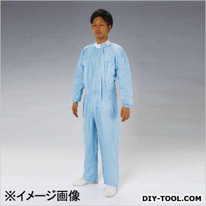 クリーンルーム用継ぎ作業服(サイドファスナー) 青 3L (EA996DA-14)