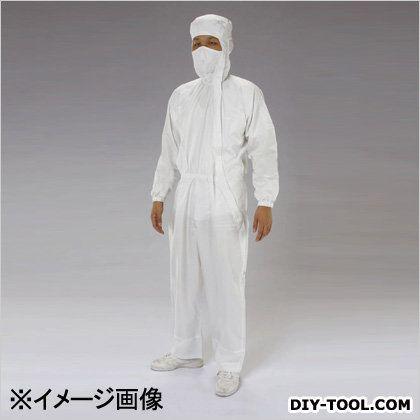 店 クリーンルーム用フード付継ぎ服 サイドファスナー 期間限定送料無料 白 LL EA996DC-3