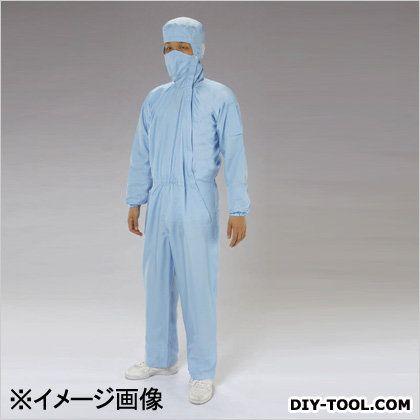 クリーンルーム用フード付継ぎ服 サイドファスナー 青 3L 至高 EA996DC-14 驚きの値段