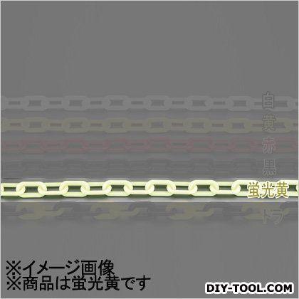 プラスチックチェーン 蛍光黄 8.0mmx30m (EA980A-67B)