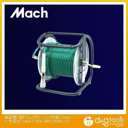 マッハ 高圧用C型ドラム(エアリール) グリーン 内径6.0mm×外径10.0mm×30m HPD-630C-S