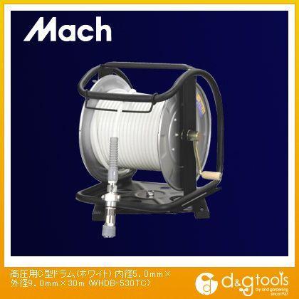 マッハ 高圧用C型ドラム(エアリール) ホワイト 内径5.0mm×外径9.0mm×30m WHDB-530TC