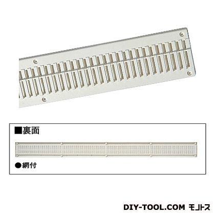 フクビ化学工業 軒天換気エルシアNE(網付き) ホワイト 75×910mm (NEDXW) 20個