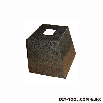 フチオカ 御影石柱受け 黒角7寸 黒 上210×下280×高200 (F-K7-BK)