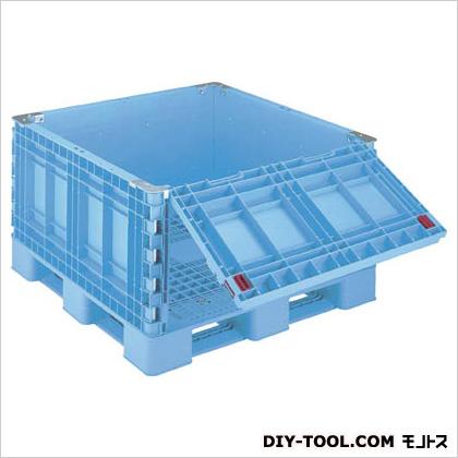 リス パレットボックス 一面ダンプ11 ブルー (BJBS1111×65SD11)