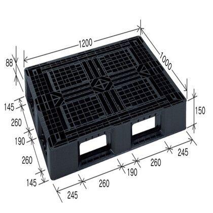岐阜プラスチック工業 リスパレット JLタイプ ダークブルー JL-D4-1210G