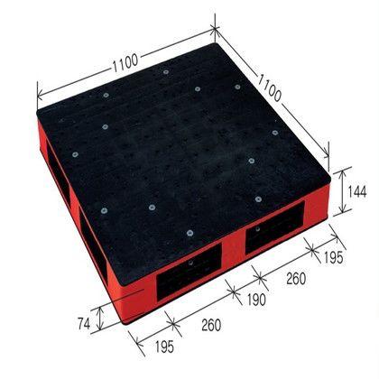 岐阜プラスチック工業 リスパレット HBタイプ ブラック/レッド HB-R4・1111SC