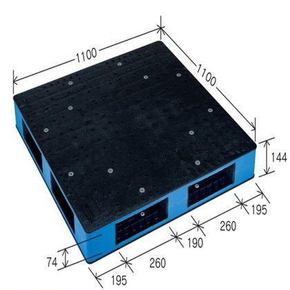 岐阜プラスチック工業 リスパレット HBタイプ ブラック/ブルー HB-R4・1111SC