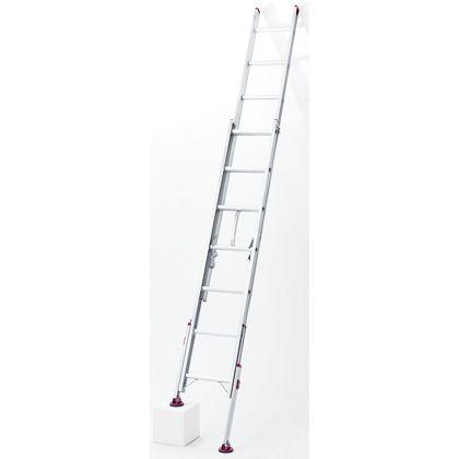 長谷川工業 アルミ脚部伸縮式 2連梯子 ノビ型 シルバー (LSK2 1.0-54)