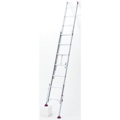 長谷川工業 アルミ脚部伸縮式 2連梯子 ノビ型 シルバー (LSK2 1.0-74)