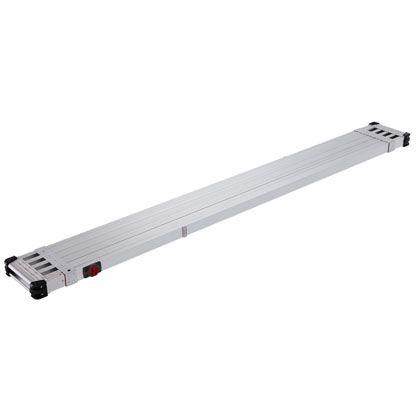 長谷川工業 伸縮式足場板 スライドステージ シルバー (SSF1.0-400)