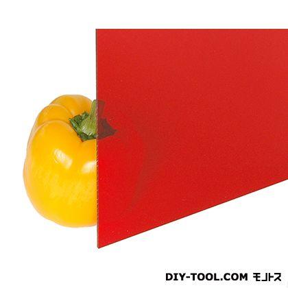 光 アクリル板 赤透明 2×1100×1300mm A400-2UL   0