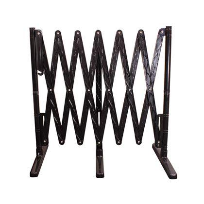 光 プラスチック製伸縮フェンス 黒/黒 W380×H930×D500(折りたたみ時) KPFS-96