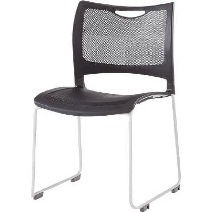 アイリスチトセ アイリスチトセ スタッキングチェアー 背・座:樹脂 ブラック MCMT01BK 1 脚