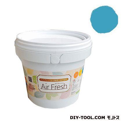 エアフレッシュ ハイブリット型光触媒内装用塗料 トロピカルブルー 4kg イサム塗料 塗料 水性塗料