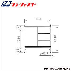 伊藤製作所 ローリング部材梯子枠  FT-1515AZ 1 個