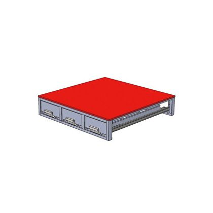 デンサン バンキャビネット(3列引き出し)  SCT-F01
