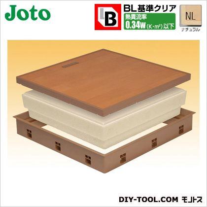JOTO 高気密床下点検口 ナチュラル 554×404×77.5mm (SPF-R45F12-BL2-NL)
