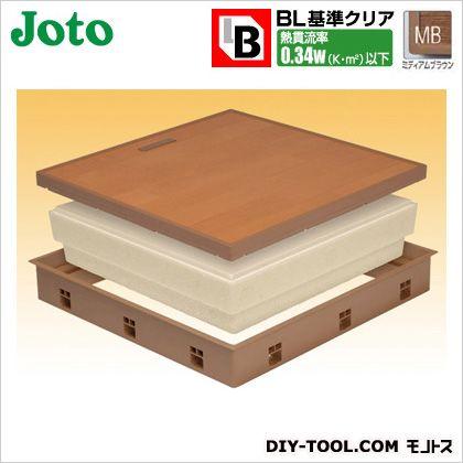 JOTO 高気密床下点検口 ミディアムブラウン 600×600×77.5mm (SPF-R60C-BL2-MB)