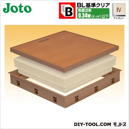 JOTO 高気密床下点検口 アイボリー 554×404×77.5mm SPF-R45F12-BL3-IV