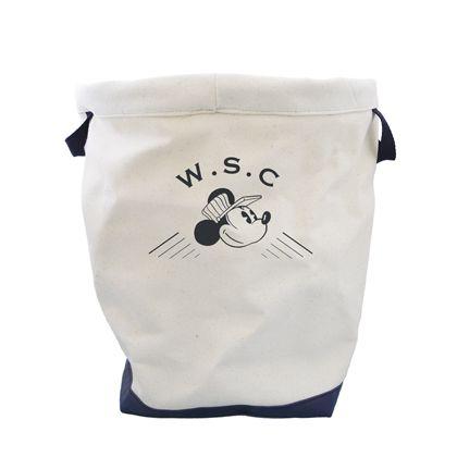 Workson WSC ディズニーキャンバスロールバスケットL アイボリー H380×W330(mm) 5セット