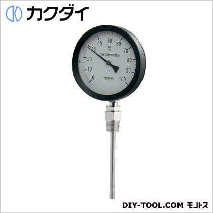 カクダイ(KAKUDAI) バイメタル製温度計(ストレート型) 649-906-100B