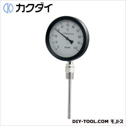 カクダイ(KAKUDAI) バイメタル製温度計(ストレート型) 649-907-100B