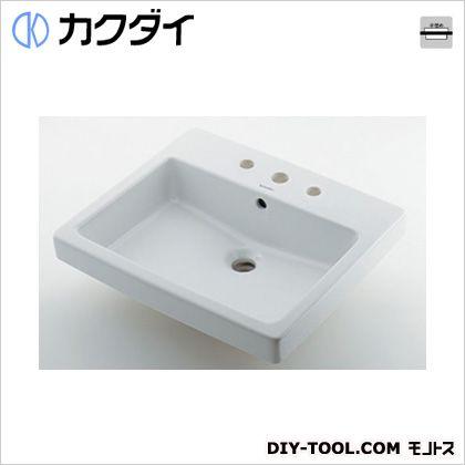 カクダイ 角型洗面器//3ホール 10L #DU-0315550030