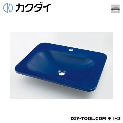 カクダイ 角型洗面器 ロイヤルブルー 7.5L #MR-493220B