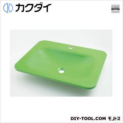 カクダイ 角型洗面器 アップルグリーン 7.5L #MR-493220GR