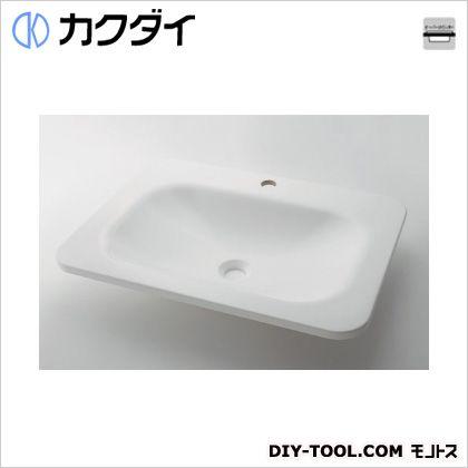カクダイ(KAKUDAI) 角型洗面器 ホワイト 7.5L #MR-493220W