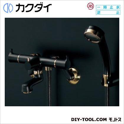 高級ブランド FACTORY 2ハンドルシャワー混合栓(一時止水・マットブラック) カクダイ/KAKUDAI SHOP ONLINE 139-020-D:DIY-木材・建築資材・設備