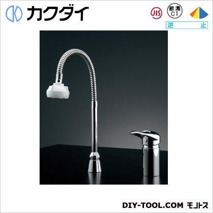 カクダイ シングルレバー混合栓(シャワーつき)  185-514