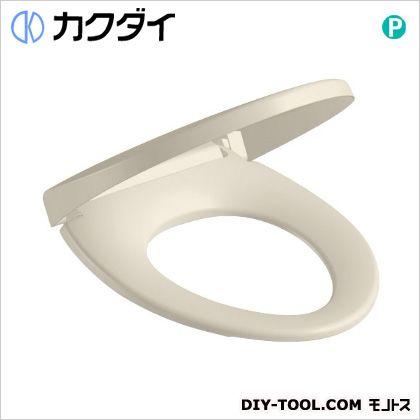 カクダイ 前丸暖房便座 パステルアイボリー (234-010-PI)