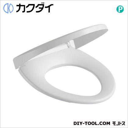 カクダイ 前丸暖房便座 ホワイト (234-010-W)
