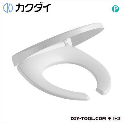 カクダイ 前丸暖房便座 ホワイト (234-020-W)