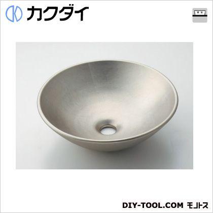 カクダイ 丸型手洗器 白銀 493-095-T
