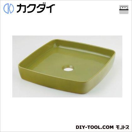 カクダイ 角型手洗器 ピスタチオ 493-096-GR