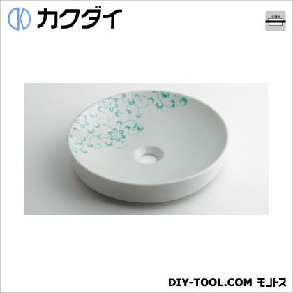 カクダイ 丸型手洗器 ペパーミント 493-097-GR