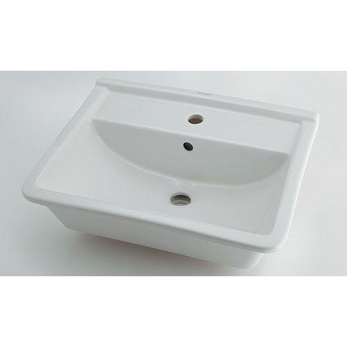 DURAVIT 角型洗面器//1ホール 白(ホワイト) 呼46・横560・縦460 #DU-0302560000 1