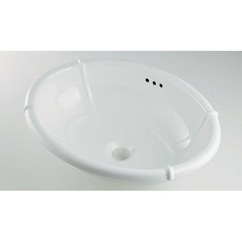 Olympia 丸型洗面器 白(ホワイト)・金(ゴールド) #LY-493209 1